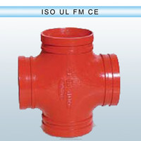 Iron cross joint pipe fitting