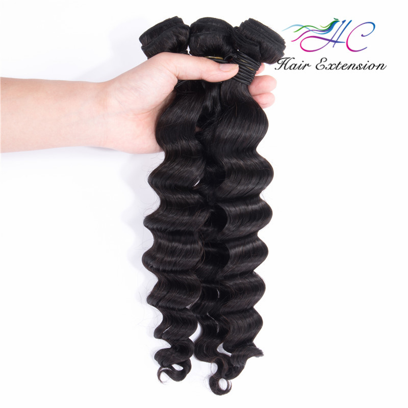 18 Inch Raw Unprocessed Brazilian Loose Deep Wave Hair Weave Distributor In China