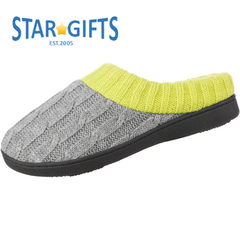 Non-slip Cozy Beautiful Comfort Fit Knitted Heal Slippers for Women's