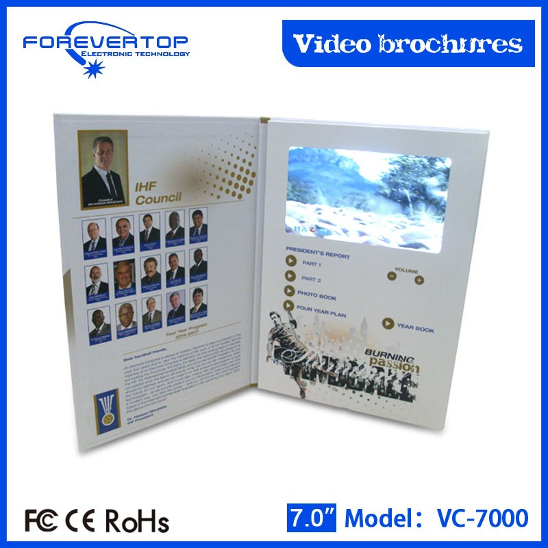 Artifical type new invitation card blank white paper video greeting card