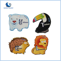 Manufactory Production customed 3d rubber fridge magnet
