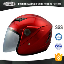 Red colur full face moto helmet open face unique motorcycle helmets ECE approved