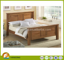 Latest Solid Pine Wood Bed Queen Size Wood Double Bed Simple Designs