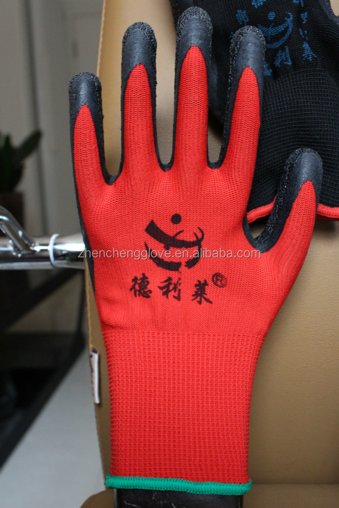 roping gloves cotton ,working gloves with latex