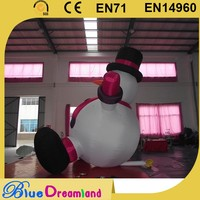 Unique design snowman inflatable christmas led decorations with low price