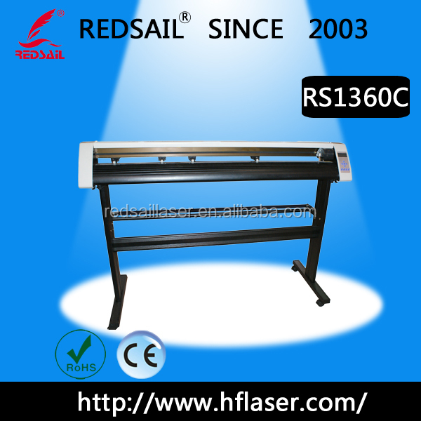 48' vinyl cutting plotter Redsail RS1360C cut 1200mm size with contour cutting function