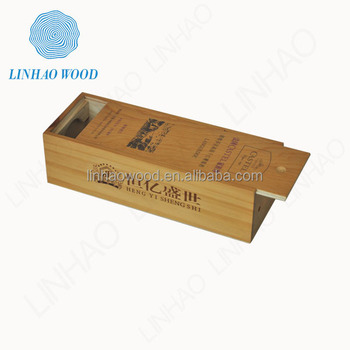 2015 New Design Bamboo Wood Wine Box for 1 bottle