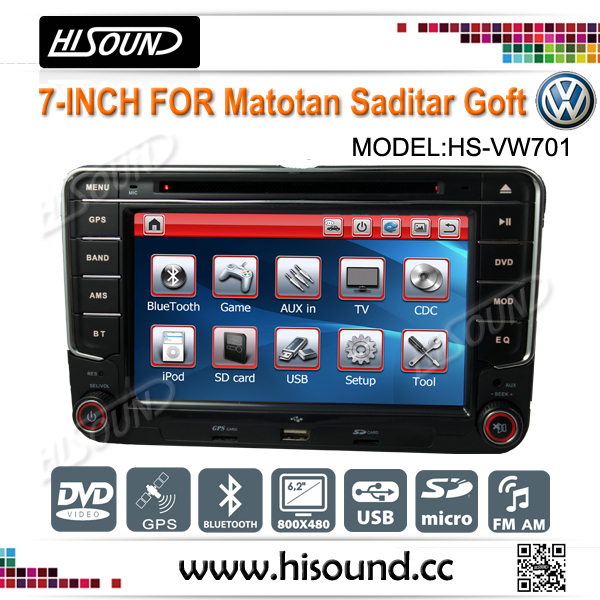 7 inch with gps and bluetooth car double din vw golf 5