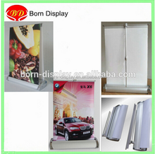 High Quality Folded Aluminum materal Double or Single Side A4 Small Desk Roll UP Banner for Table Banner Display
