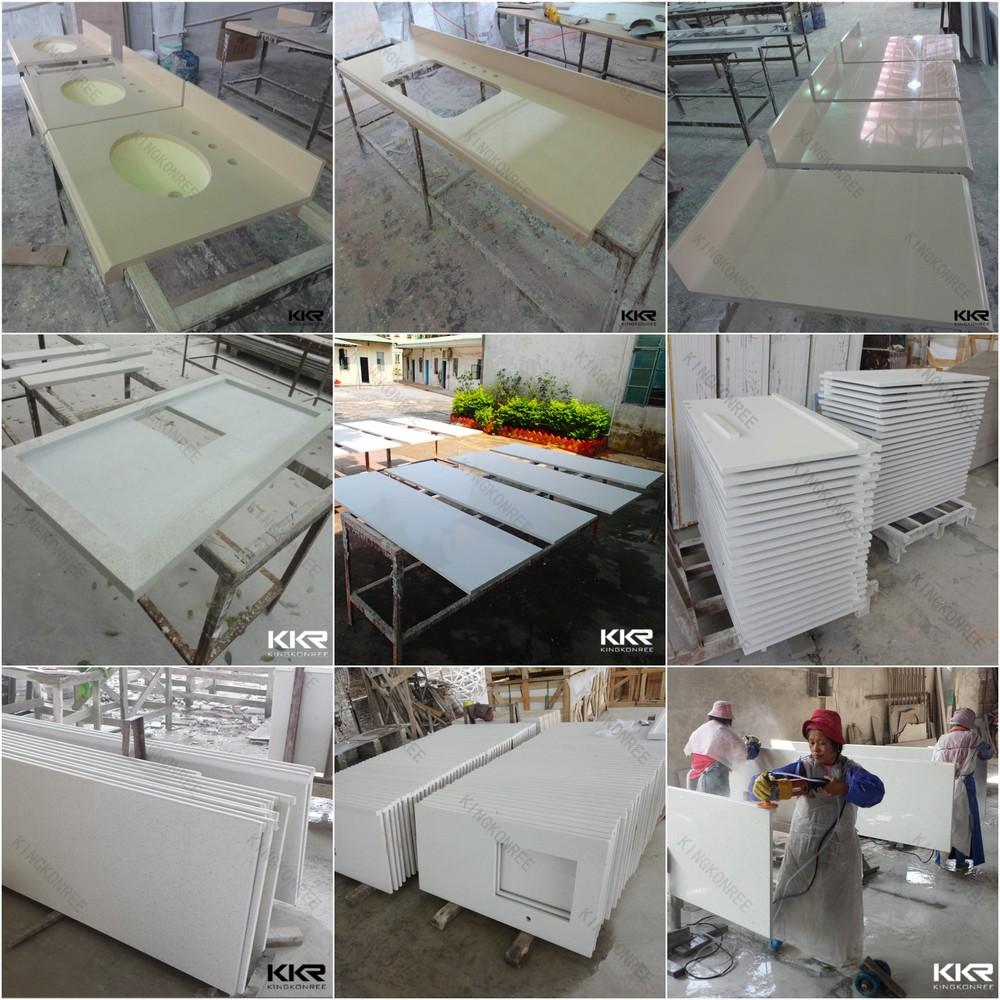Cheap price white sparkle quartz stone countertop buy Manufactured quartz countertops cost