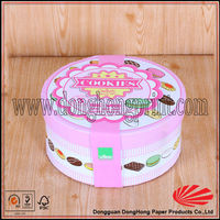 Factory offer round design customized macaron box wholesale on sale