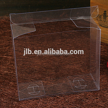 Custom plastic PET flat pack folding clear acetate transparent gift box