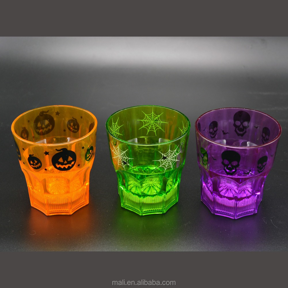 manufacture Wholesale Flashing Novelty Plastic lighted led whisky cups for Nightclub Bar Birthday Party KTV Helloween