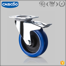 CASCOO wholesale European style Elastic Rubber caster wheel for hand carts