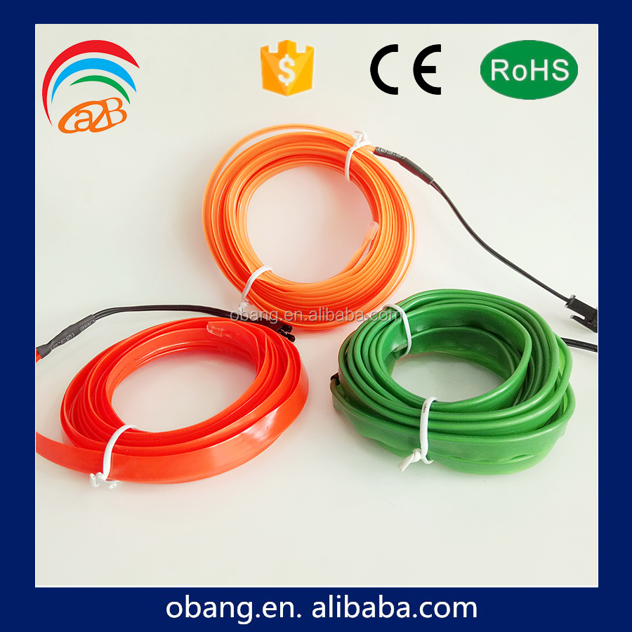 multi color neno glowing el welt wire roll for hoodies decoration