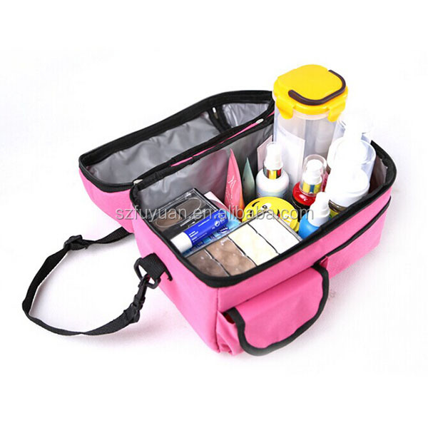 Wholesale waterproof insulated kids lunch cooler bag with hard bottom