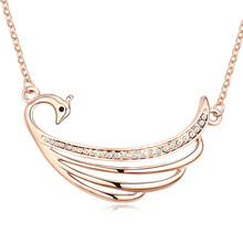 12616 free shipping gold-plated ego ring clip necklace