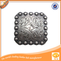 Nickle plated or zinc alloy square berry conchos belt buckle belt accessories