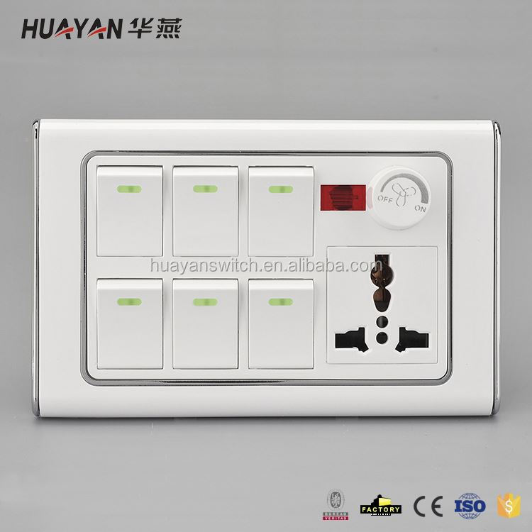 Professional made good quality electric switches and sockets from manufacturer