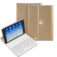 hiqh quality free sample golden sand bluetooth keyboard case for universal tablet