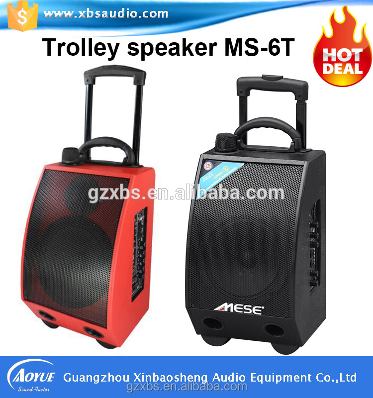 Aoyue MS-6T 50-Watt Portable Outdoor Speaker PA System with Wireless Microphone