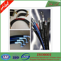 Industrial high pressure steel wire rubber hose assembly