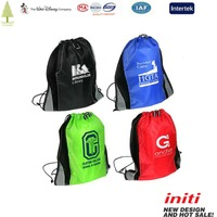 2016 Colorful Quality Sport Cheap gym sack drawstring bag