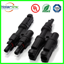 10 pair= lot Good quality MC4 T- Branch connector 2 in 1 branch MC4 for solar power system