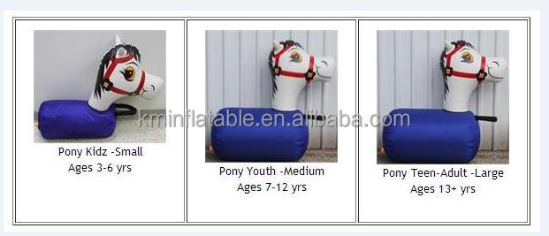 inflatable pony hops sale for derby race game Inflatable games