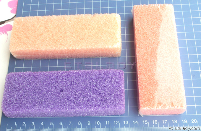 Salon Manicure Pedicure Mini Disposable Pumice Sponge Block
