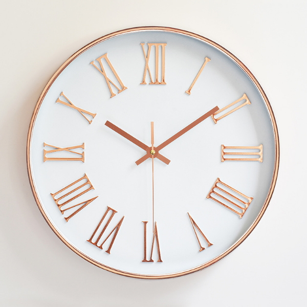 Customized Logo Printing Round Plastic Wall Clock