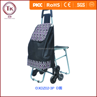 TK high quality Light Weight trolley shopping bag with chair