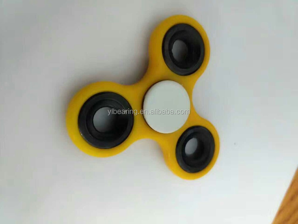 Hot Fidget Spinner Tri Hand Spinners led Toy Plastic Bearing Caps 608 Bearing