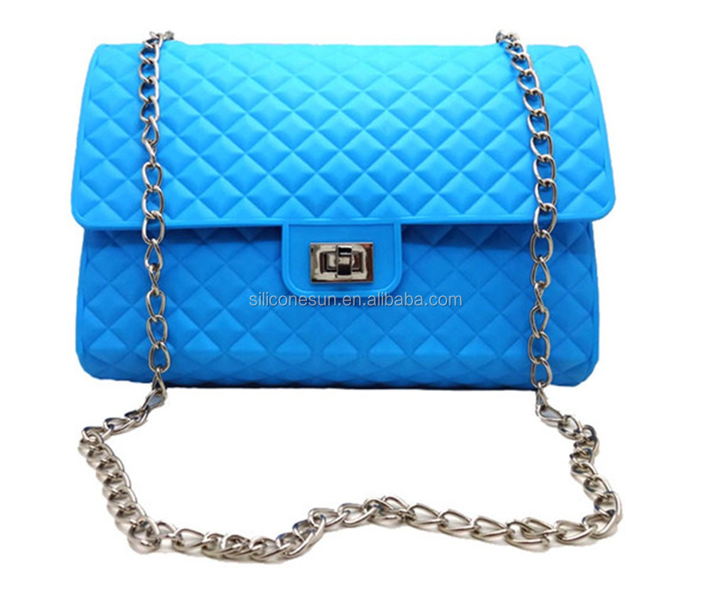 Fashion jelly silicone shoulder handbag for lady
