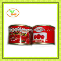 70G-4500G China Hot Sell Canned tomato paste,chili sauce brands