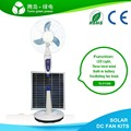 DC 2Pcs Rechargeble Inside Lead-Acid Battery 16'' 18V15W Solar Fan For Home