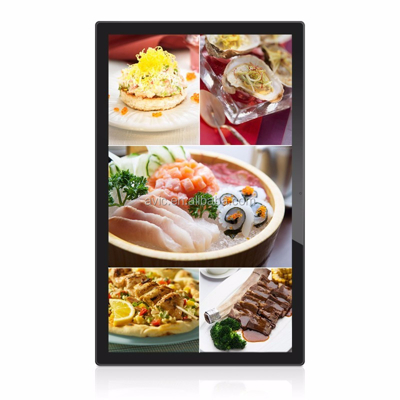 13.3 inch android remote control tablet 10-point capacitive touch screen commercial monitor for restaurant auto order system