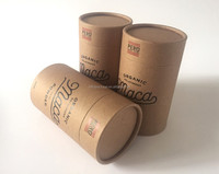 Eco friendly food grade round kraft paper box for coffee