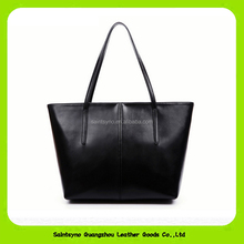 15634 factory direct selling fashion leather handbag for lady with 1 secret zipper pocket