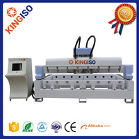 3d cnc wood carving machine KI3012-8S 4 Axis cnc router for shapes