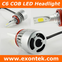 2018 hotp sale China all-in-one led car headlamp COB LED light car H7 H11 9005 9006 C6 30W COB
