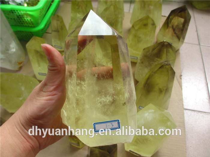 natural citrine quartz crystal point wholesale,rock crystal citrine points,raw citrine