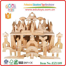 100 pcs Kindergarten Wooden Block Set DIY Construction Set Creativity Development Early Education Tool for Kids Toddlers