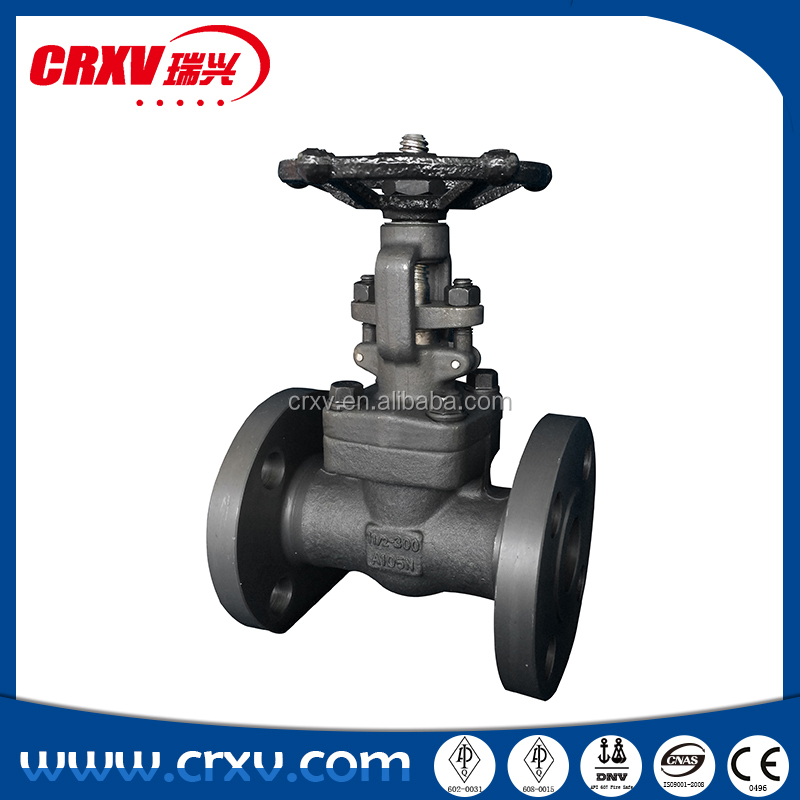 "Flanges and Valves ANSI standard 150lbs 300lbs 600lbs 1/2""-2"" forged steel gate valve"