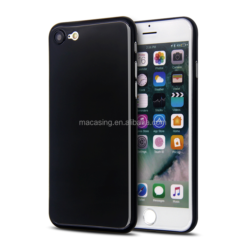 China manufacturer wholesale High glossy 035 mm jet black for iPhone 7/7plus