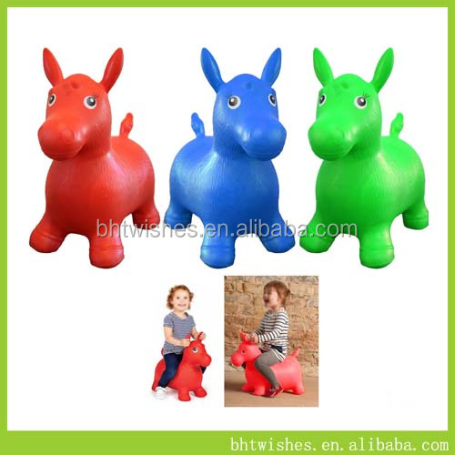 Plastic Riding Toy/Kids Inflatable Horse Jumping BHT004