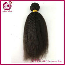 Brazilian Remy Hair Kinky Straight Hair 100% Unprocessed Human Hair Weave Bundles 8-30inch