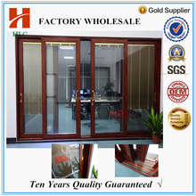Double glazing Powder coated 2 tracks sliding aluminium door