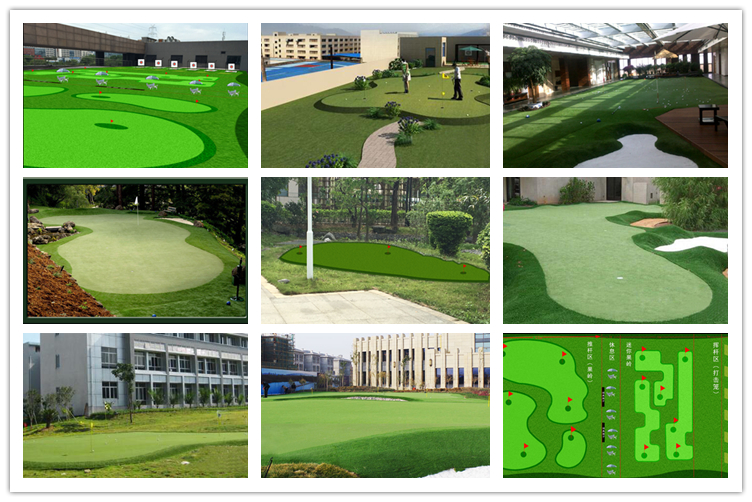 Outdoor and indoor Luxurious Golf Putting Green , Factory custom Golf Putter Trainer , 1*3m Golf Training Mat