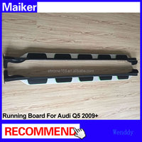 Aluminium alloy Running boards with side skirt for Audi Q5 2009+ car Side step bar auto running board 4x4 accessories from Maike